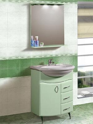 компактная мини-мебель в ванную комнату, зеркало, умывальник, тумба