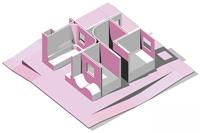 Оригинальный дизайн - Дом по кругу. Планировка в перспективе