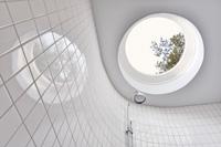 Оригинальный дизайн - Дом по кругу. Потолок ванной комнаты